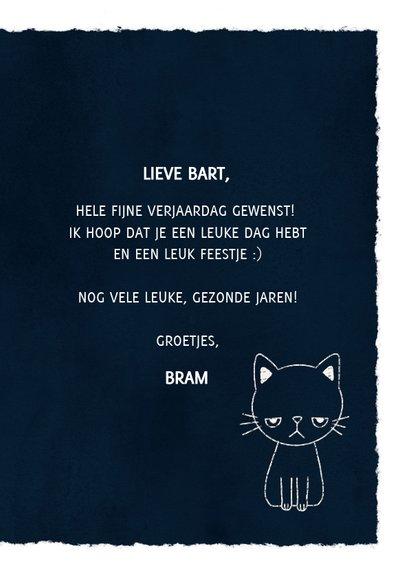 Grappige verjaardagskaart met leuke tekst & foto van een kat 3
