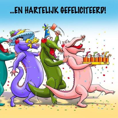Grappige verjaardagskaart met tekst: Krokodolle dag 3