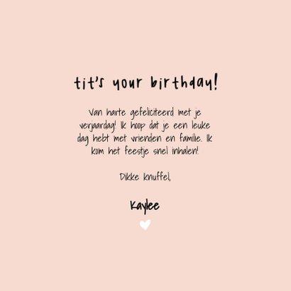 Grappige verjaardagskaart 'Tit's your birthday' 3