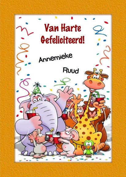 Grappige verjaardagskaart voor kind van 4 jaar 3