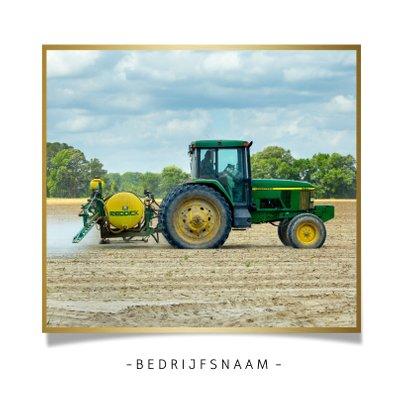 Grappige zakelijke kerstkaart agrarische sector tractor 2021 2