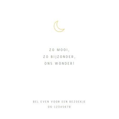Groen geboortekaartje voor een jongen maan en sterren 2