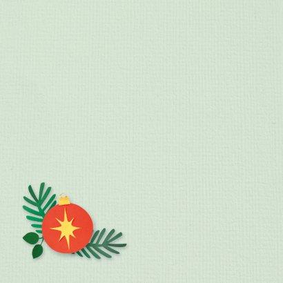 Groene kerstkaart met roodborstje 2