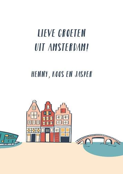 Groeten uit Amsterdam grachtenpandjes 3