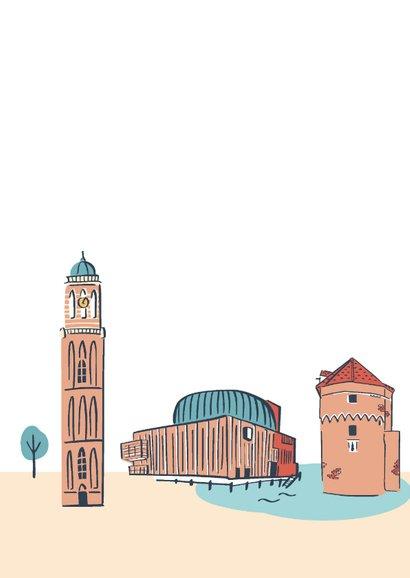 Groeten uit Zwolle stad illustraties 2