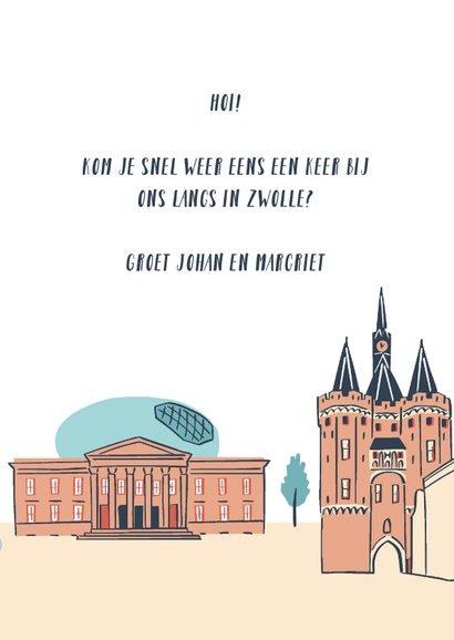 Groeten uit Zwolle stad illustraties 3