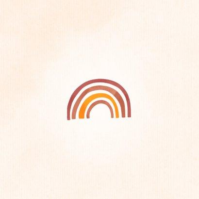 Grußkarte Aufmunterung 'No rain, no rainbow' 2