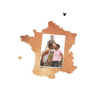 Grußkarte aus Frankreich mit eigenen Fotos & Herzen 2