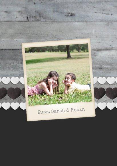 Grußkarte 'Best Mom' Holzlook mit drei Fotos 2