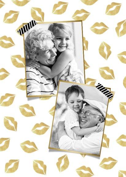 Grußkarte Briefkasten Kuss mit Herzen 2