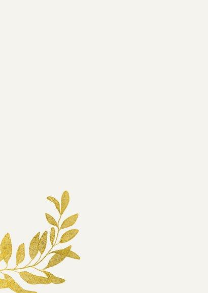 Grußkarte Danke goldene Blätter 2