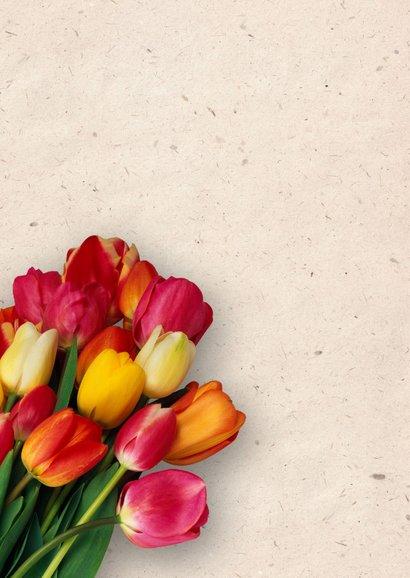 Grußkarte Danke mit Tulpen 2