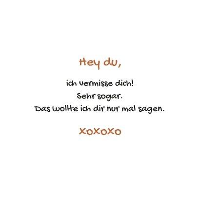 Grußkarte 'Du fehlst mir' mit Hund 3