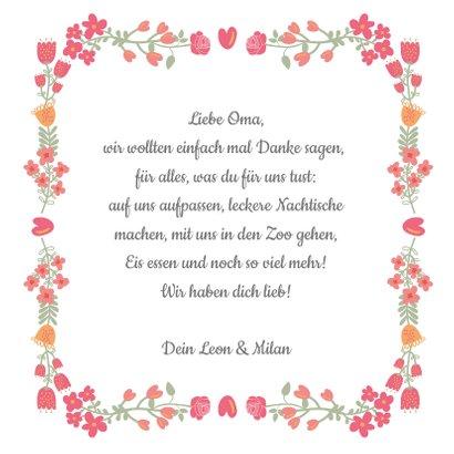 Grußkarte Foto in Herz mit Blumen 3