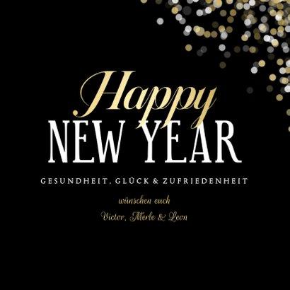 Grußkarte Foto Neujahr 'Happy New Year'  3