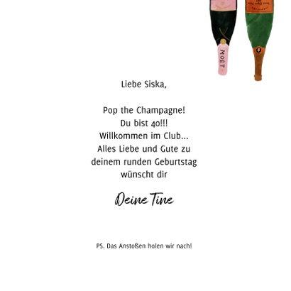 Grußkarte Geburtstag Cheers mit Champagner 3