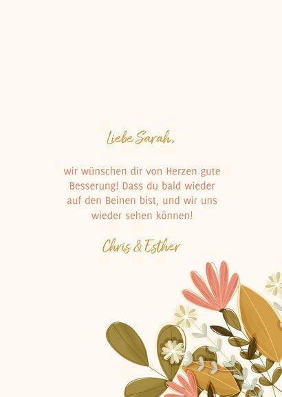 Grußkarte Gute Besserung Blumen aus Umschlag 3