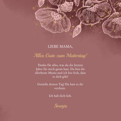 Grußkarte 'happy mothersday' mit Foto und Blumen 3