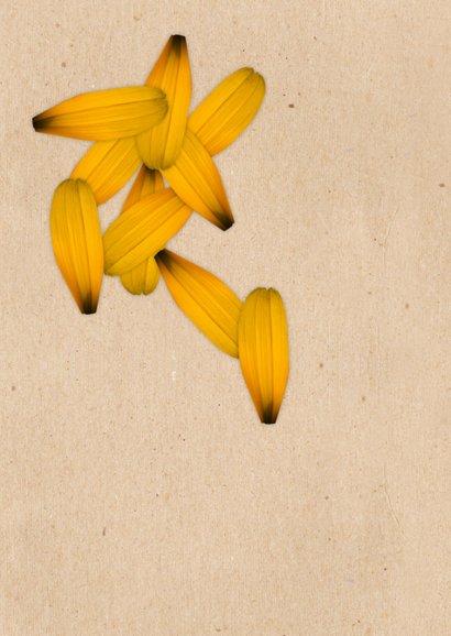 Grußkarte I do love you Blumenblätter 2