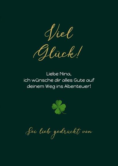 Grußkarte Kleeblätter 'You've got this' 3
