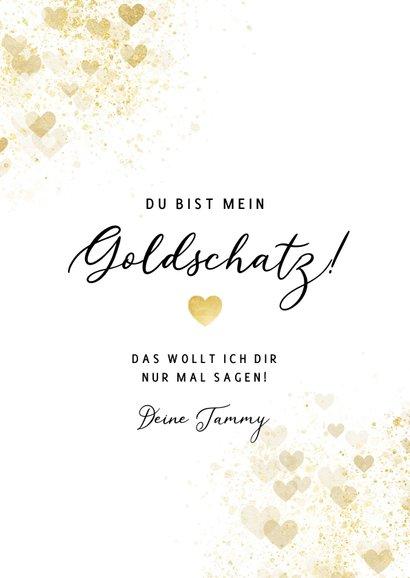Grußkarte Liebe Goldschatz 3