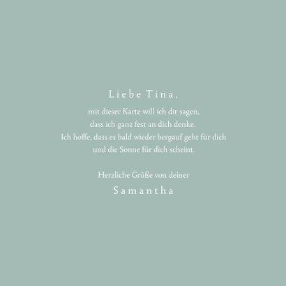 Grußkarte 'Liebe Grüße' eleganter Blumenkranz 3