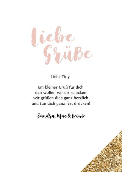 Grußkarte 'Liebe Grüße' Fotokarte 3