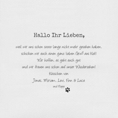 Grußkarte Liebe Grüße Polaroidfoto 3