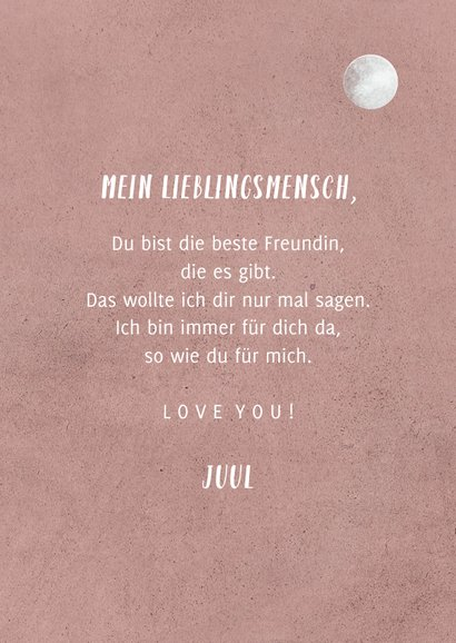 Grußkarte 'Love you to the moon and back' 3