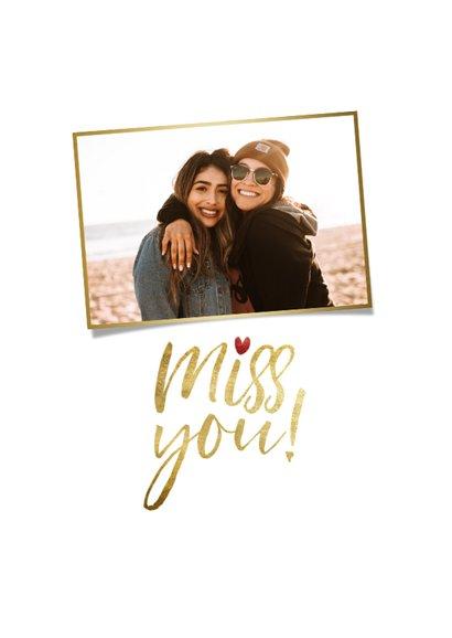 Grußkarte 'Miss you' eigenes Foto 2