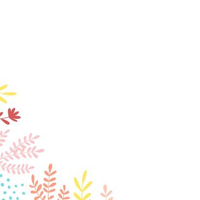 Grußkarte mit farbenfrohen Zweigen und Punkten 2