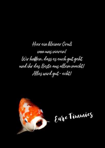 Grußkarte Motivation Alles wird gut Goldfisch 3