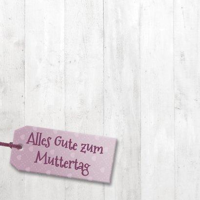Grußkarte Muttertag Fotos in Herzen im Holzlook 2