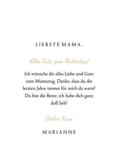 Grußkarte Muttertag goldene Rose und Fotos 3