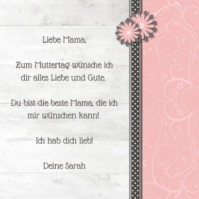 Grußkarte Muttertag Holzlook, Foto und Etikett No. 1 Mom! 3