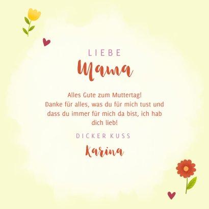 Grußkarte Muttertag mit Blumen 3