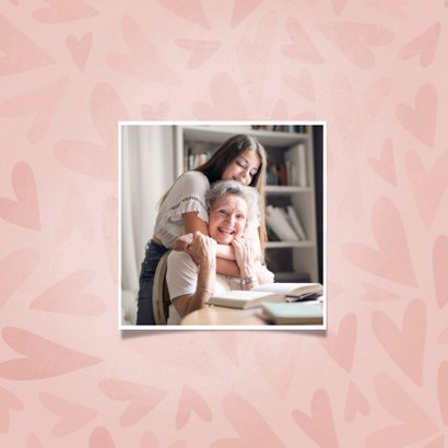 Grußkarte Oma mit Herzen und Foto innen 2