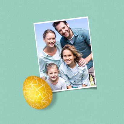 Grußkarte Ostern bunte Ostereier 2