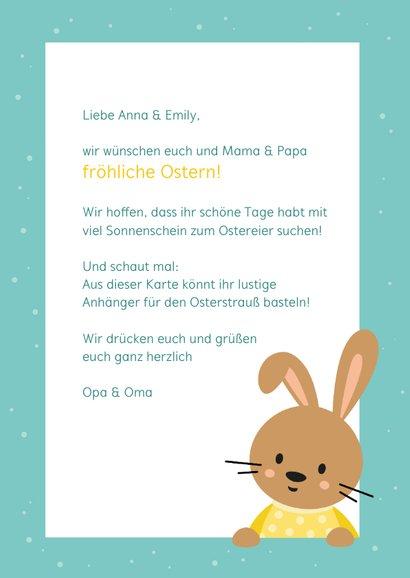 Grußkarte Ostern mit lustigem Bastelbogen 3