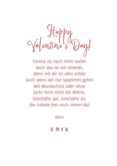 Grußkarte Valentinstag Corona Mundschutz 3