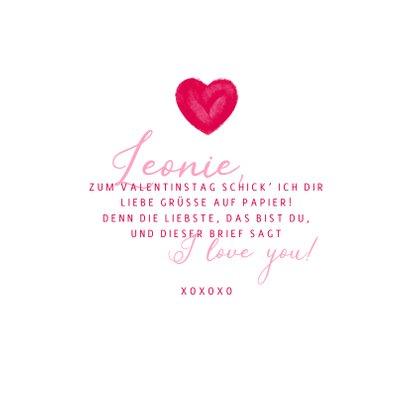 Grußkarte Valentinstag großes Herz & Name 3