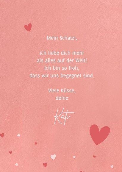 Grußkarte Valentinstag Küsse 3