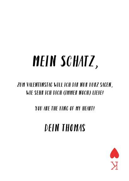 Grußkarte Valentinstag Spielkarte Herzkönig 3