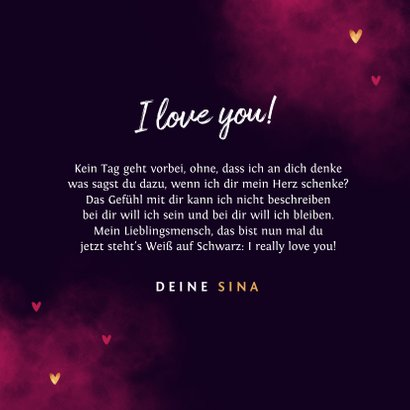 Grußkarte Valentinstag 'True love' 3