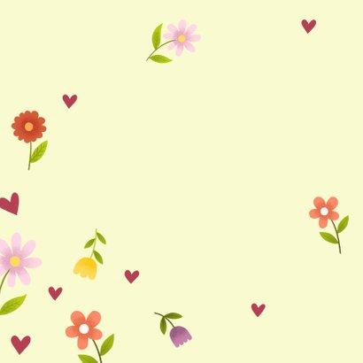 Grußkarte Wir sagen Danke mit Blumen 2