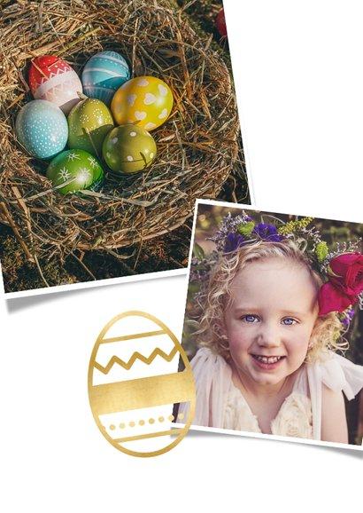Grußkarte zu Ostern eigene Fotos & Ei 2