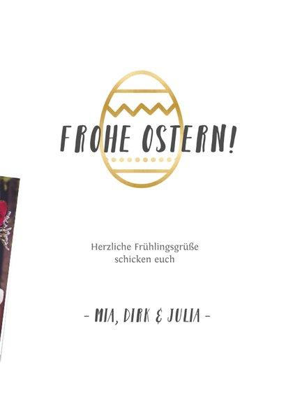 Grußkarte zu Ostern eigene Fotos & Ei 3