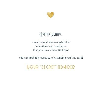 Grußkarte zum Valentinstag Goldenes Herz 3