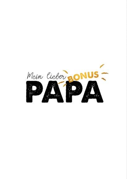 Grußkarte zum Vatertag Bonuspapa 2