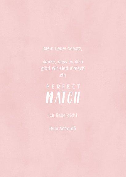 Grußkarten Liebe 'Perfect Match' 3